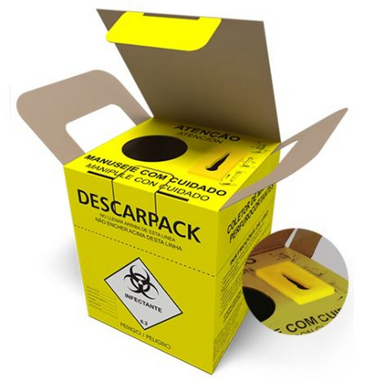 Coletor Descartável para Material Perfurocortante (7L, 13L ou 20L)