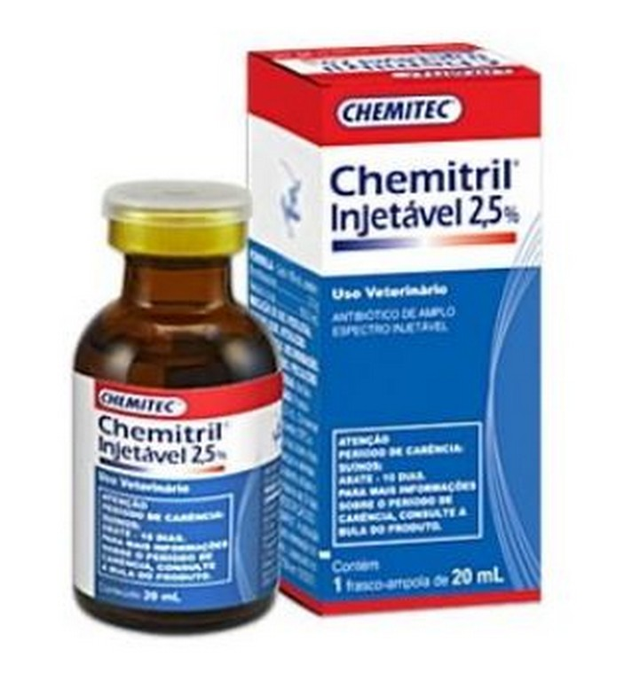 Chemitril 2,5% Injetável