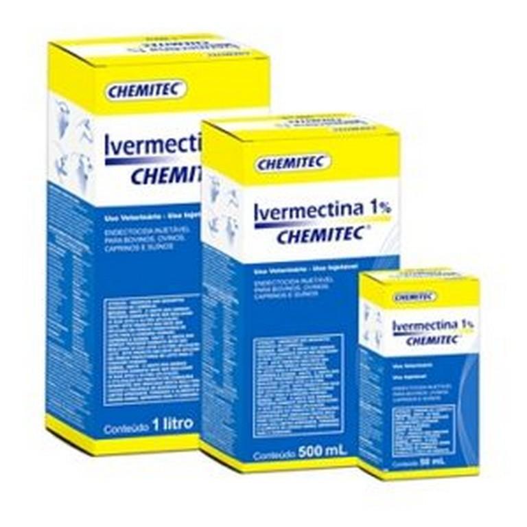 Endectocida Ivermectina 1% (50ML, 500ML ou 1L)