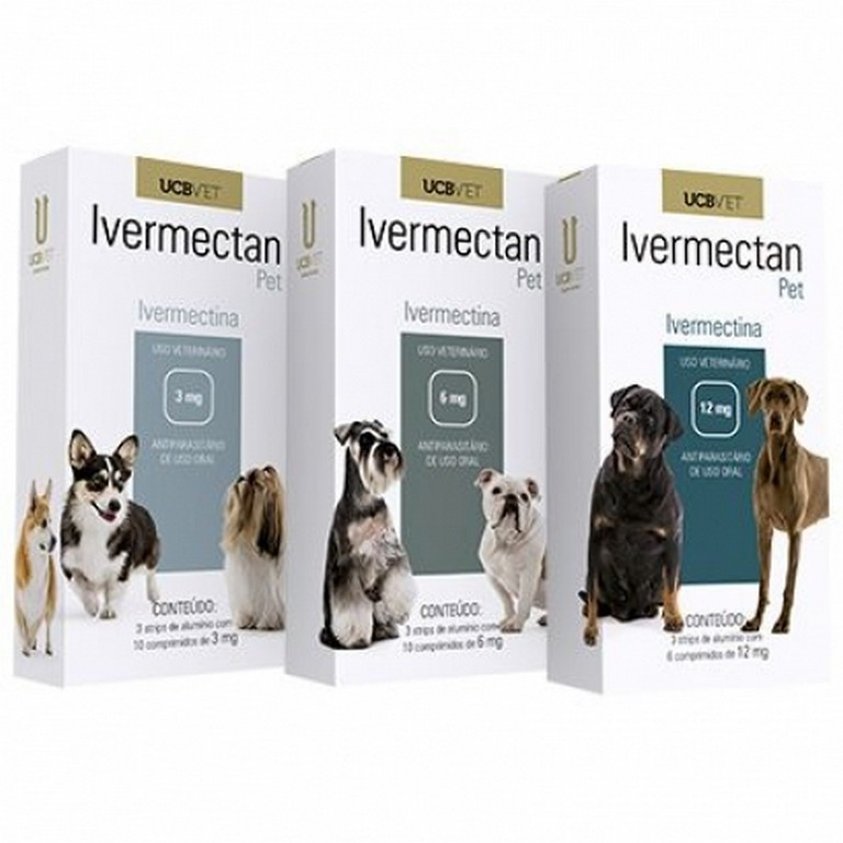 Ivermectan Pet (3MG, 6MG ou 12MG)