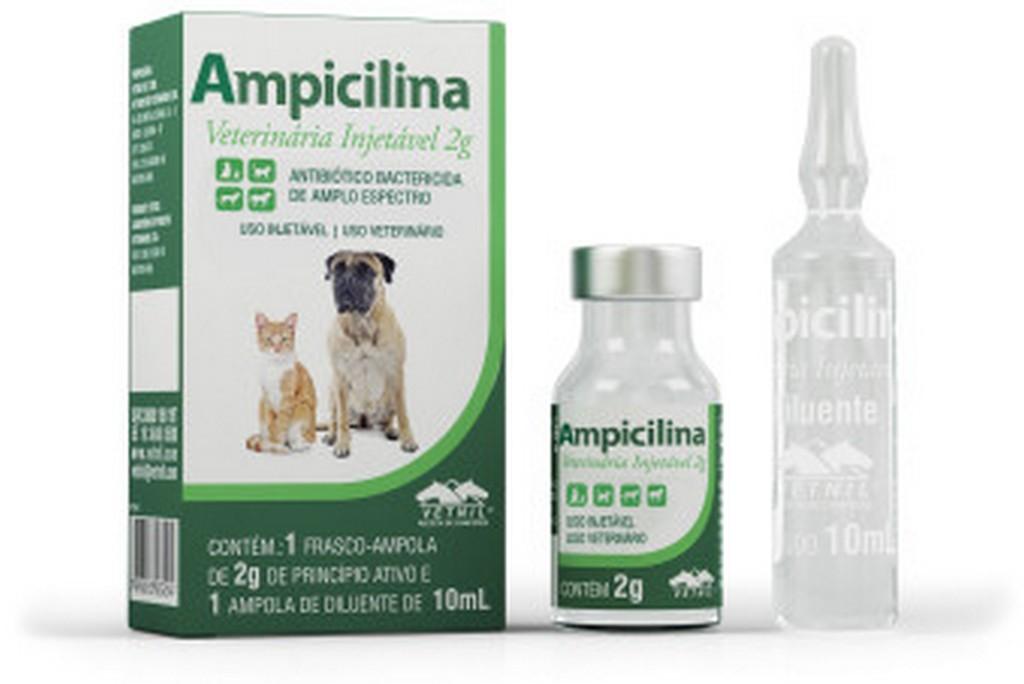 Ampicilina Veterinária Injetável 2G