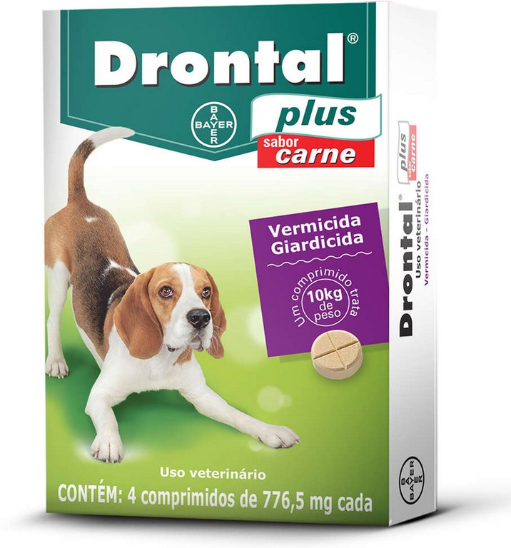 Drontal Plus 776,5 mg (4 comprimidos)